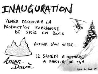 INAUGURATION de l'Atelier a Jarrier! Samedi 6 octobre 2018 à partir de 14h.
