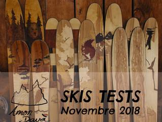 SKIS TESTS Amon Dava - Novembre 2018. Viens tester gratos le matos.