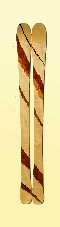 Amon Dava skis bois RAYURES