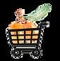 carrello della spesa con bacche di olivello spinoso