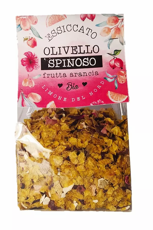 Essiccato di olivello spinoso e frutta d'arancia