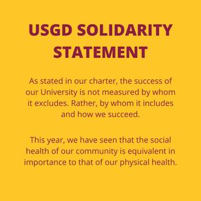 USGD Solidarity Statement