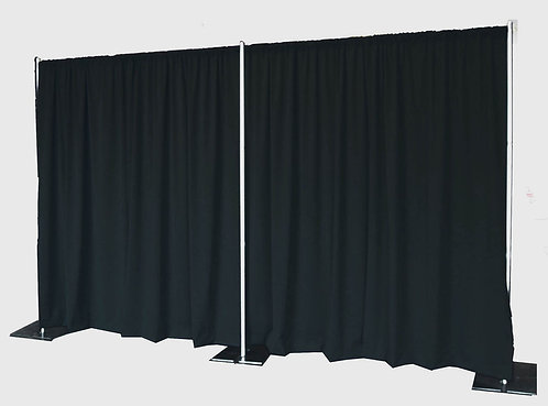 Black Velour Drape Kit 16' H