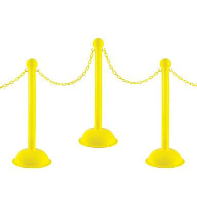 Stanchions - Yellow Plastic