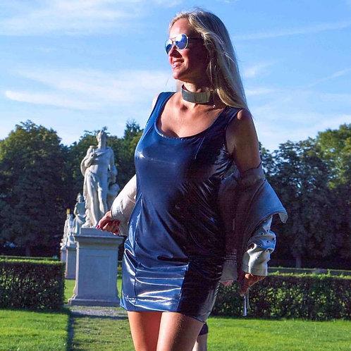 Christina Striewski 19B Navy Blue Nylon Dress