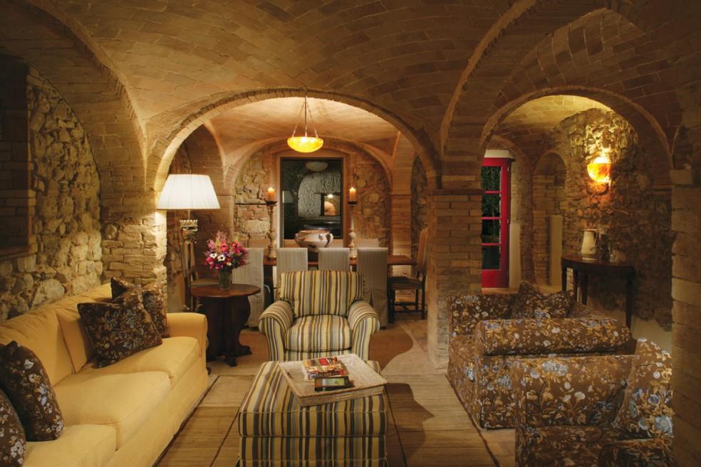 Stonework dome interior