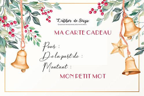 Carte cadeau 25 € + 1 bougie offerte