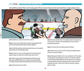 Two executives discuss S&OP data presentaiton at their son's hockey game