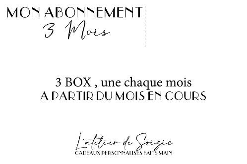 """Abonnement """" Les box de la mariée """" 3 mois"""