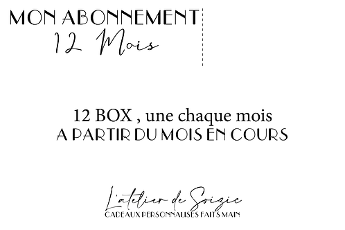 """Abonnement """" Les box de la mariée """" 12 mois"""
