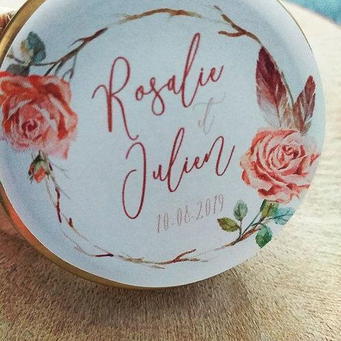 Bougie personnalisées - Collection Rosalie