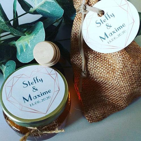 Pot de miel personnalisé & pochon