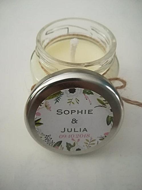 Collection Julia : Bougie personnalisée