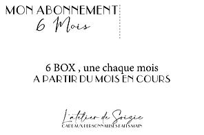 """Abonnement """" Les box de la mariée """" 6 mois"""