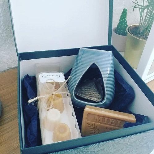 Coffret cadeaux : Brûle parfum + Lot de 6 fondants parfumés