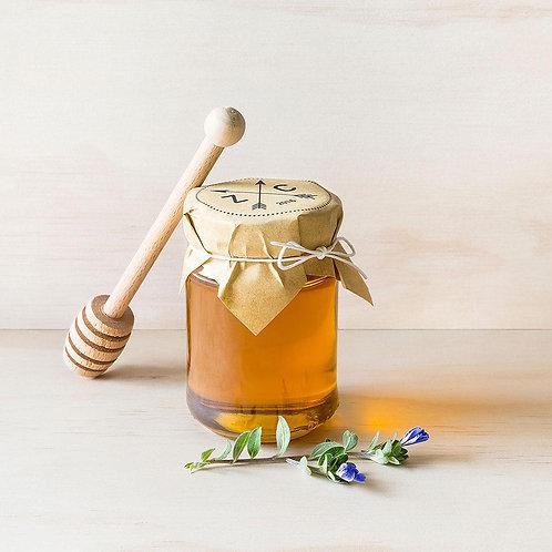 Pot de miel 120 grammes étiquette kraft