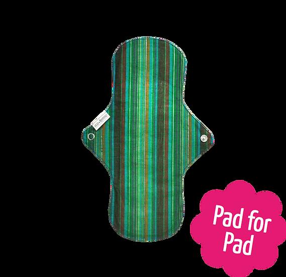 Eco Femme 鮮艷色日用27cm加長版布衛生巾(含防漏層)