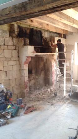 dépose de la cheminée