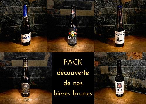 Pack découverte de nos bières brunes