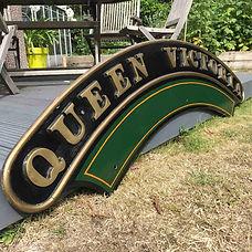 GWR Loco nameplate Queen Victoria
