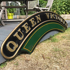 GWR Loco nameplate Queen Victoria