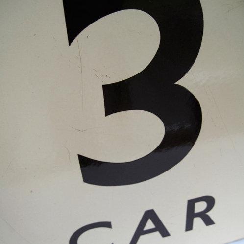 BR(W) enamel platform sign