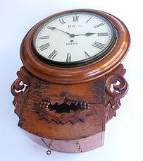 LNER 12inch oak cased fusee drop dial clock
