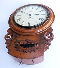 LNER 12inch oak cased fusee drop dial clock