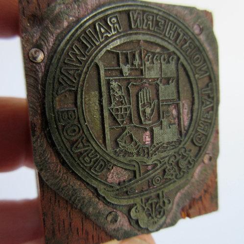 GNR coat of arms print block