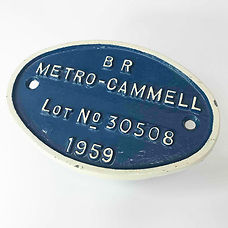 BR class 102 diesel multiple unit works plate