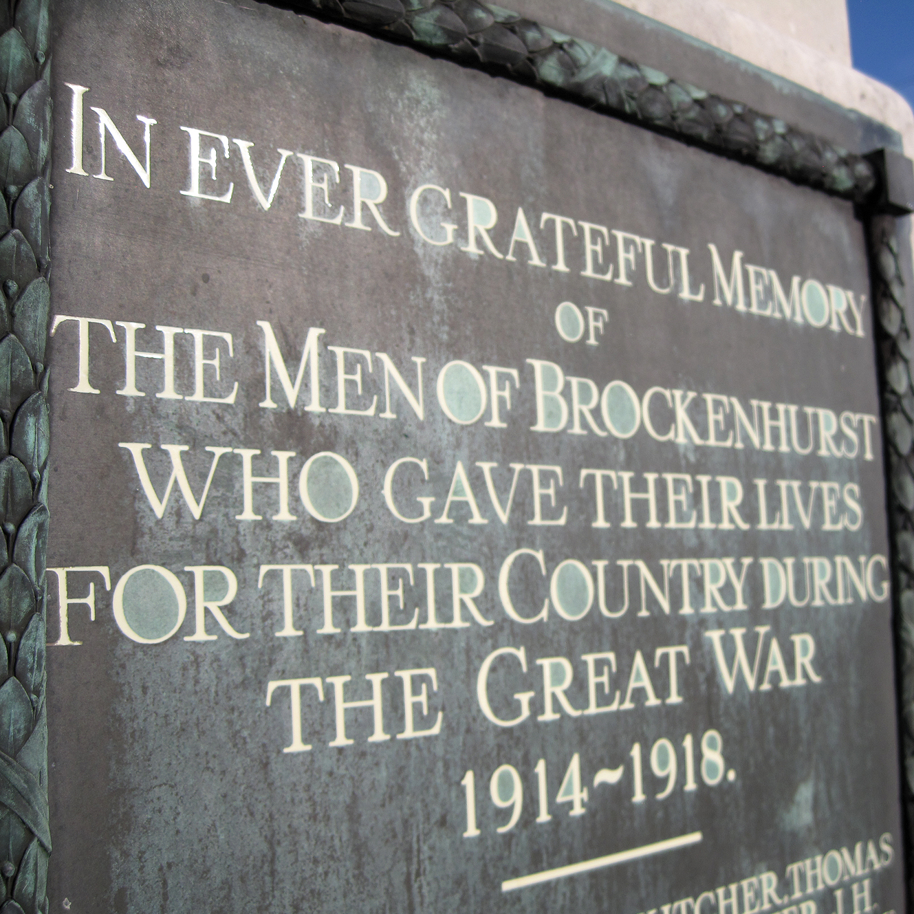 Brockenhurst War Memorial