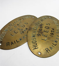 Hudswell Clarke & Co. Works Plate Pair