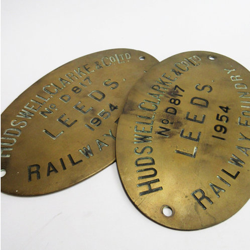 Hudswell Clarke & Co. Works Plate Pair