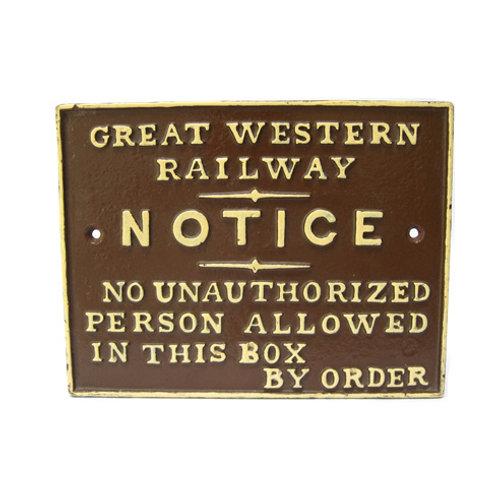 GWR signal box sign