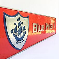 Locomotive nameplate Blue Peter 2