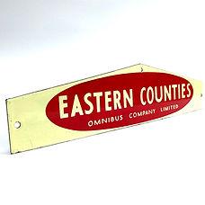 Eastern Counties enamel sign