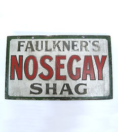 Enamel advertising sign