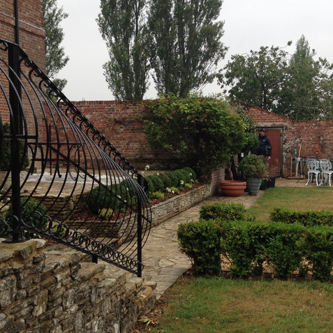Classic garden at the back of the manor house