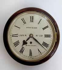 L&NWR 8 inch dial wall clock