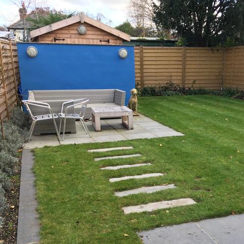 Using bold colours in a modern garden
