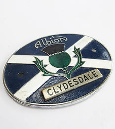 Albion Motors Clydesdale lorry badge