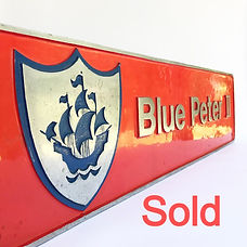 Locomotive nameplate Blue Peter 2_SOLD