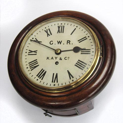 GWR 8inch round head wall clock