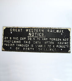 GWR cast iron gate sign