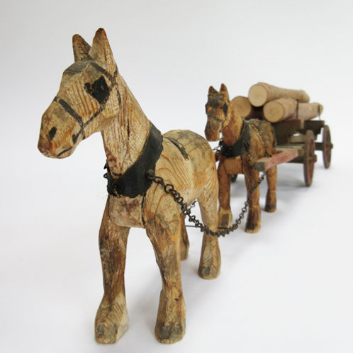 The Forest Toys – Small Horse Logging Cart