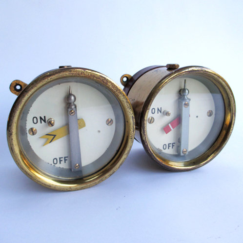 GNR Pair Brass Cased Signal Repeaters