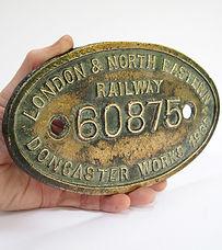 LNER Works Plate