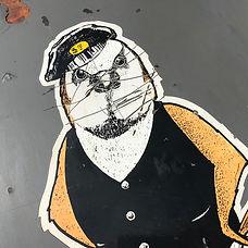 Stratford 'Cockney Sparrow' loco panel, Ex 08413