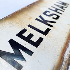 Melksham vitreous enamel sign