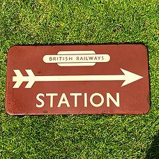 BR(W) enamel sign STATION